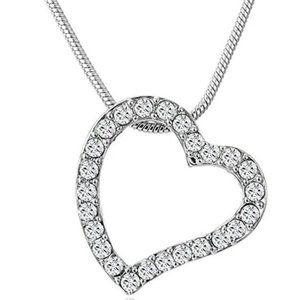 Swarovski Open Heart Necklace w/ Gift Box